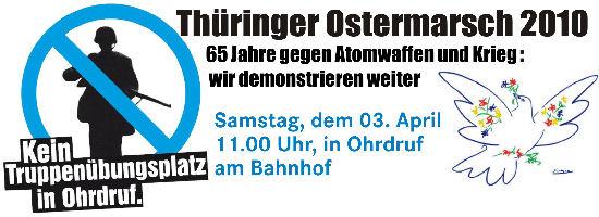 03. April: Thueringer Ostermarsch in Ohrdruf