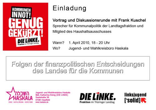 01. April: Kommunen in Finanznot