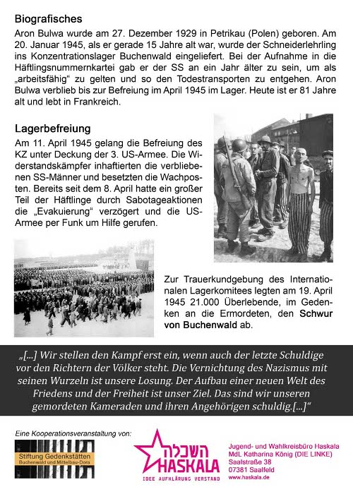 10. April: Zeitzeugengespraech