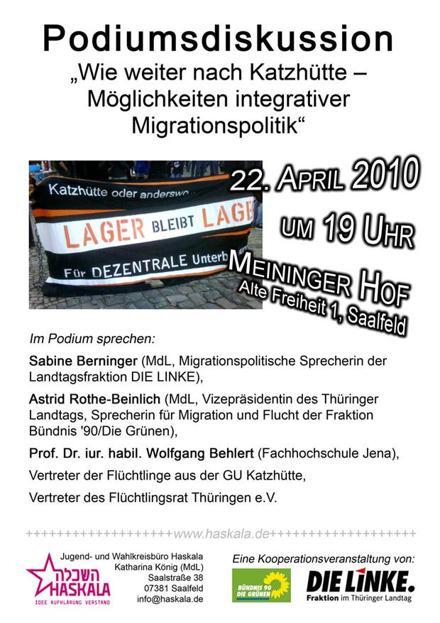 Einladung zur Podiumsdiskussion am 22. April