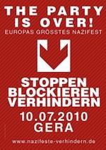 10. Juli, Gera: Nazis stoppen!