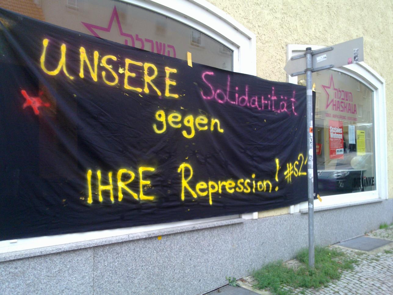 Unsere Solidaritaet gegen Stuttgart 21
