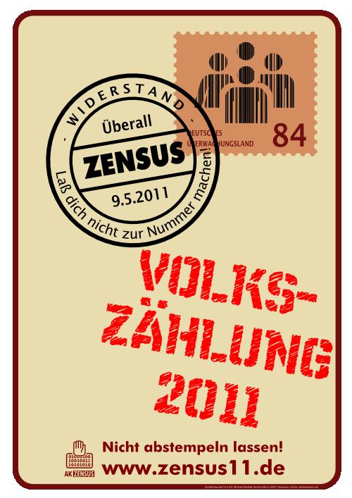 Infostand gegen den Zensus 2011 in Saalfeld