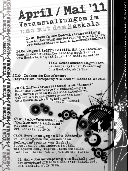 Am Freitag (15.4.): Angrillen im Haskala-Garten