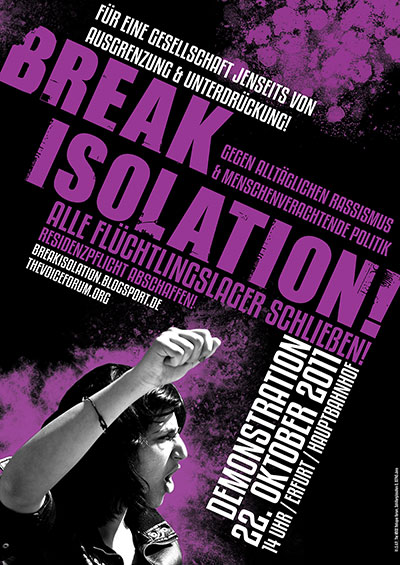 22. Oktober / Break Isolation Demonstration in Erfurt