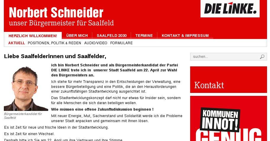 Norbert Schneider: Bürgermeisterkandidat für Saalfeld
