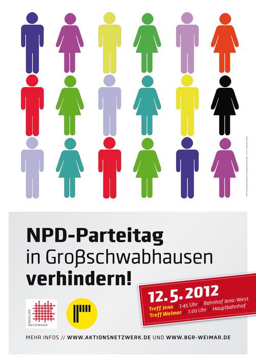 Samstag 12..5.: Proteste gegen Landesparteitag der NPD Thüringen