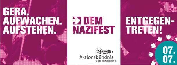 """7. Juli: Dem Nazifest """"Rock für Deutschland"""" in Gera entgegentreten!"""