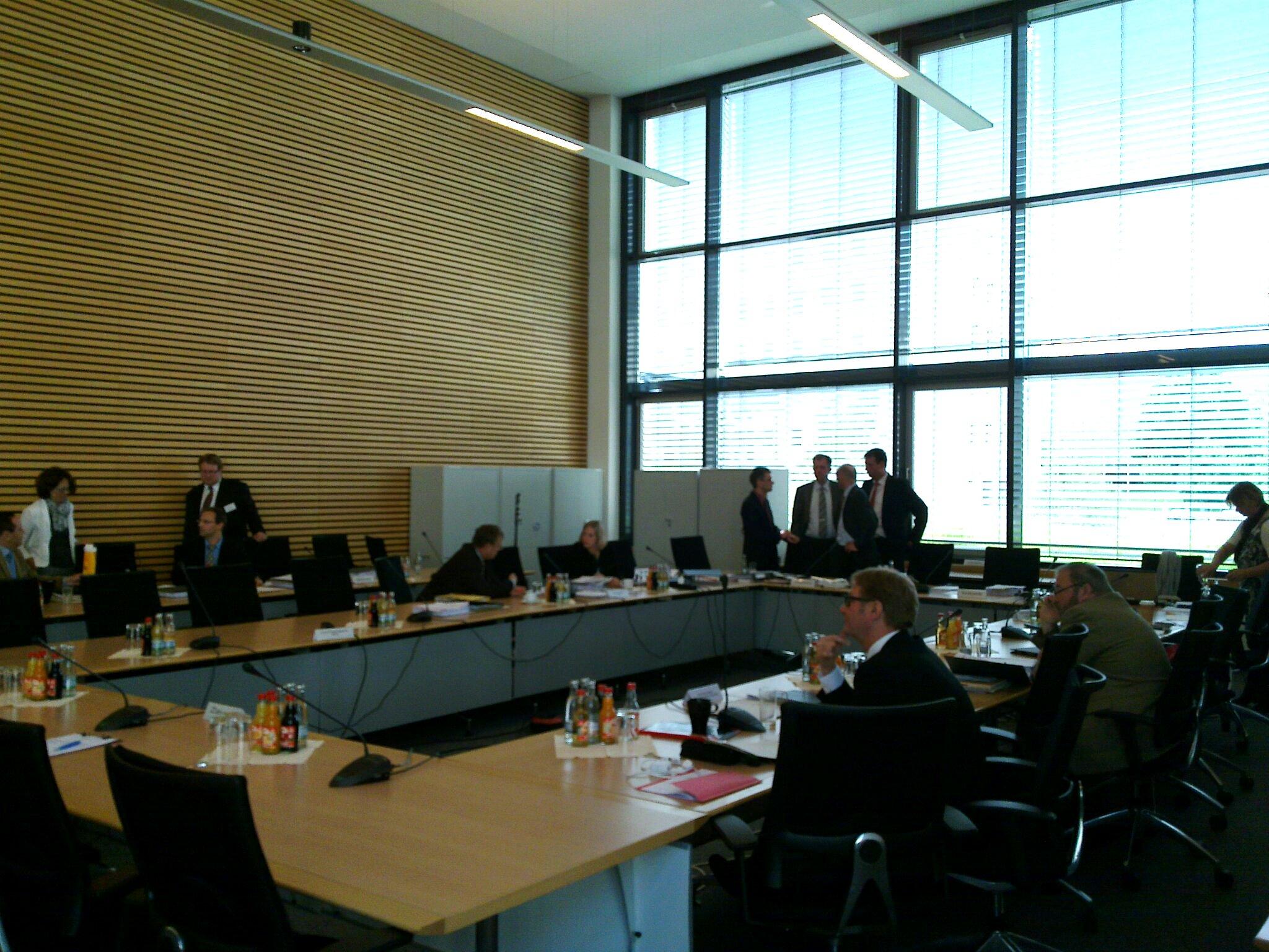 Eindrücke vom Untersuchungsausschuss am 10.7.2012
