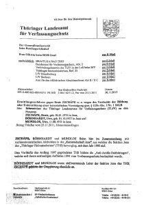 Interner Verfassungsschutz-Bericht belegt: NSU-Trio auch im Landkreis Saalfeld-Rudolstadt aktiv