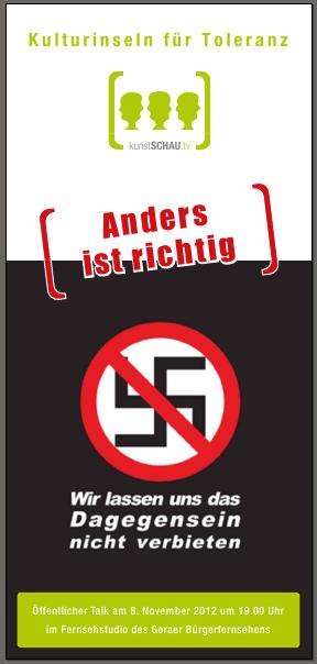 """""""Anders ist richtig"""" – Öffentlicher Talk im Geraer Bürgerfernsehen am 8. November"""