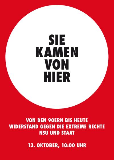 """13. Oktober, Jena: Tagung zum """"Nationalsozialistischen Untergrund"""""""