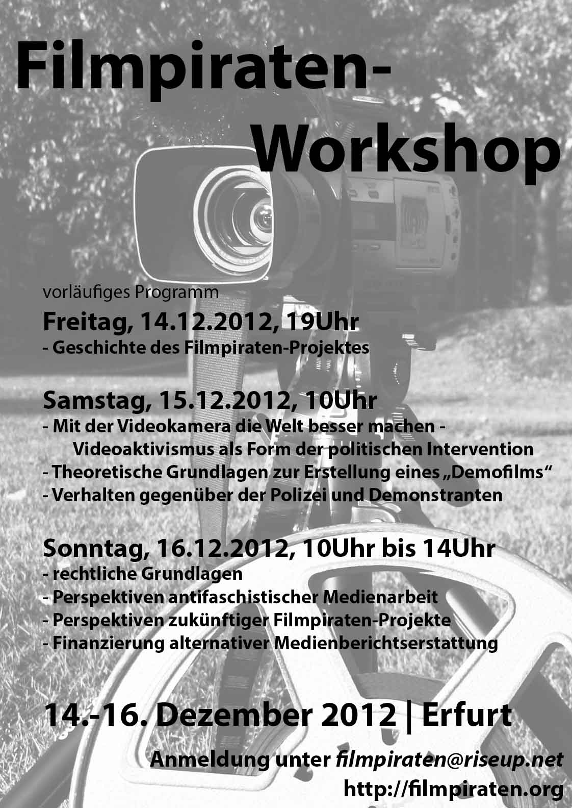 Filmpiraten-Workshop in Erfurt