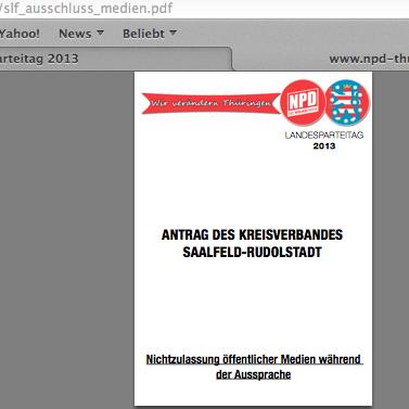 Protestaktionen zum NPD-Landesparteitag & Naziaufmarsch in Thüringen