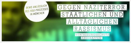 Antifaschistische Demo zum Auftakt des NSU-Prozess / Busfahrt von Thüringen nach München