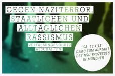 """Solidarisch mit Demonstration in München """"Gegen Naziterror und Rassismus"""""""