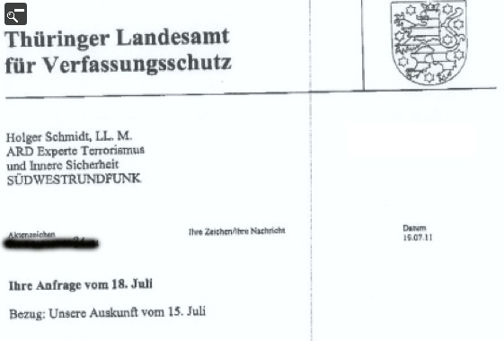 Peter B. (Saalfeld) und der Verfassungsschutz