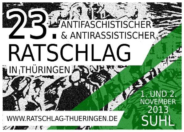 23. Antifaschistischer Ratschlag in Thüringen am 1. und 2. November 2013 in Suhl