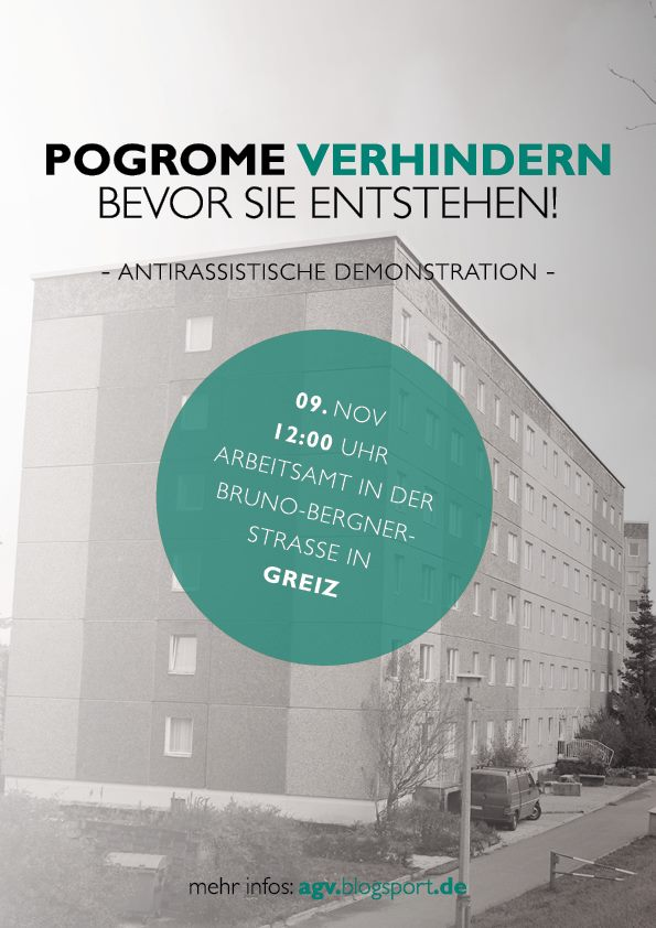 9. November 2013 – Antirassistische Demonstration in Greiz!