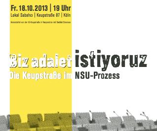 18. Oktober Köln: Veranstaltung zum NSU-Prozess & Bewertung der Untersuchungsausschüsse