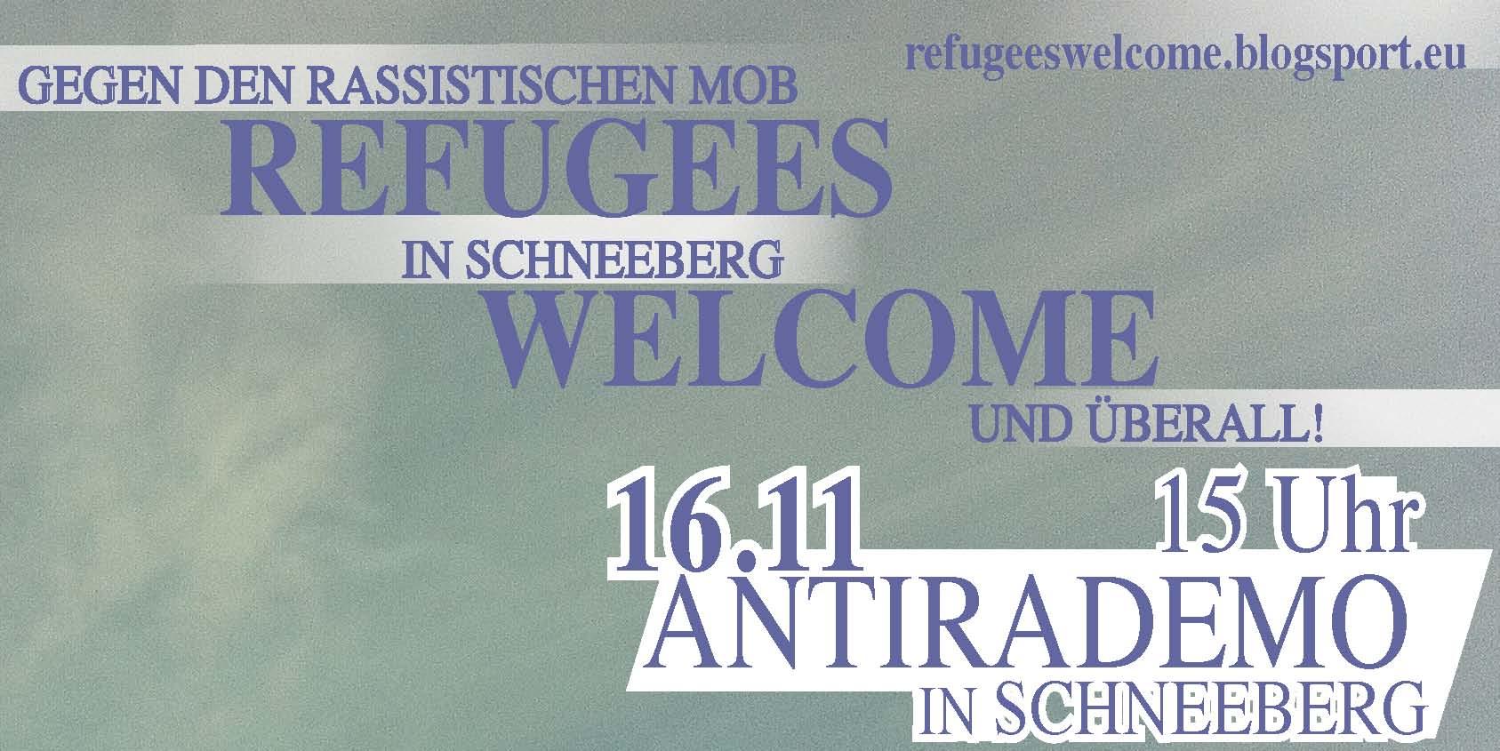 Busfahrt zur antirassistischen Demonstration in Schneeberg 16.11.