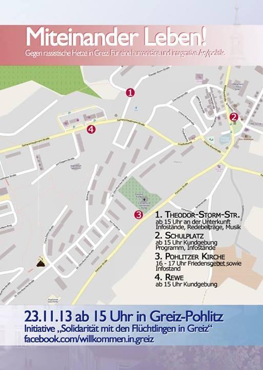 Update zum Fackelaufmarsch am 23.11. in Greiz (Stand: 22.11. / 14 Uhr)