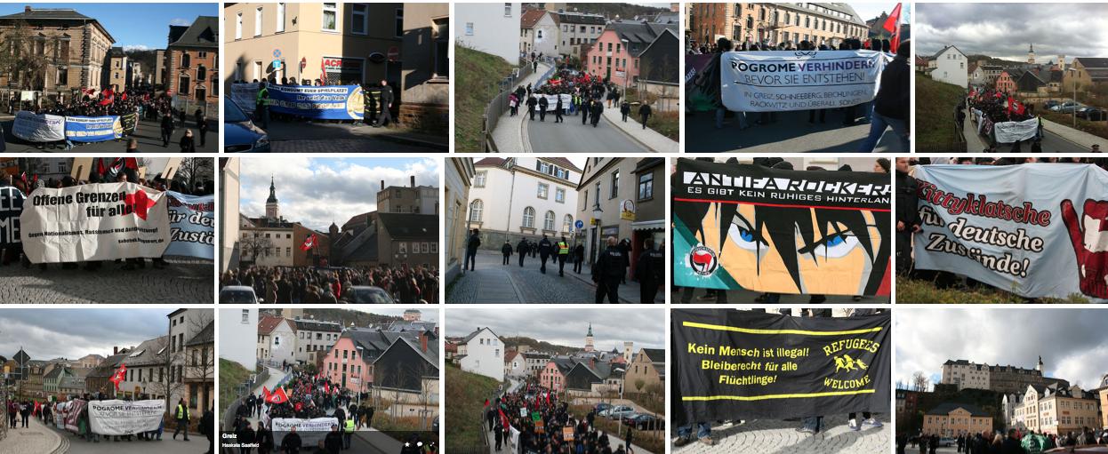 """Bilder zur Demonstration """"Pogrome verhindern bevor sie entstehen"""" am 9. November in Greiz"""