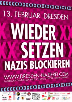 Am 13. Februar 2014 gegen den Naziaufmarsch in Dresden – Busfahrt von Saalfeld nach Dresden