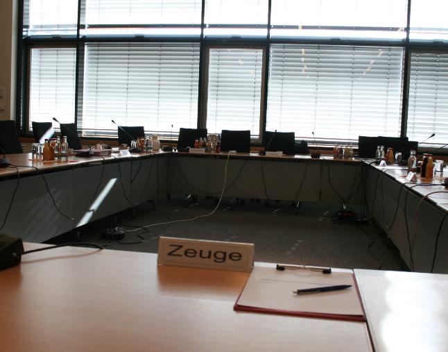 Einladung zur öffentlichen Sitzung des NSU-Untersuchungsausschuss am 13.09.18
