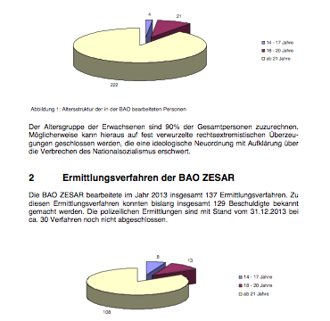 Statt Jubel Anerkennung für ermittelnde Beamte (Ergebnisse BAO Zesar/PMK/PKS)