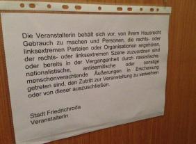 Kleine Anfrage: Veranstaltung des Thüringer Landesamtes für Verfassungsschutz am 6. Februar 2014 in Friedrichroda (Teil I+II)