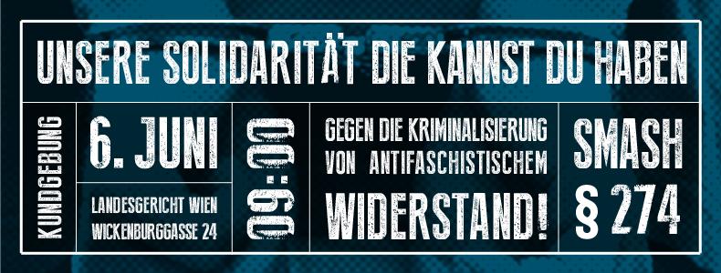 Wien 6. Juni: Prozessbeginn gegen den Jenaer Antifaschisten Josef