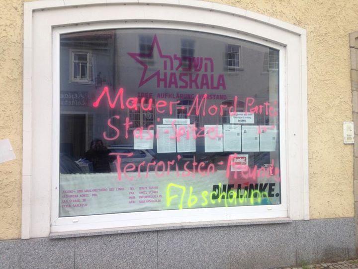 """""""Drachenbrut"""" auf Haskala-Schaufenstern"""