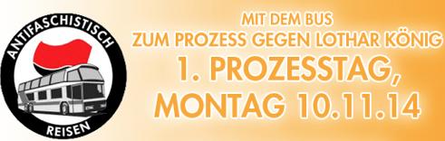10. 11.2014 – Erneuter Prozessbeginn gegen Lothar König, Bus von Saalfeld nach Dresden