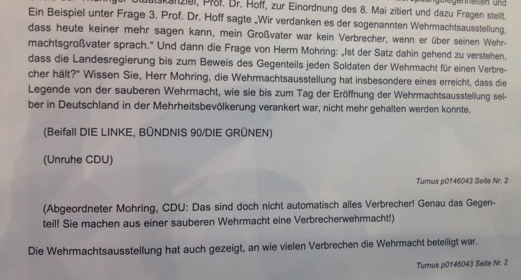 """Mike Mohring (CDU) und die """"saubere Wehrmacht"""""""