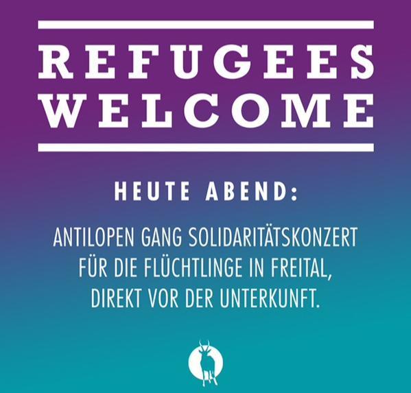 Heute (26.6.) Soli-Konzert für Flüchtlinge in Freital