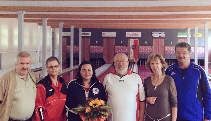 Scheckübergabe bei der Gehörlosen-Ländermeisterschaft in Saalfeld