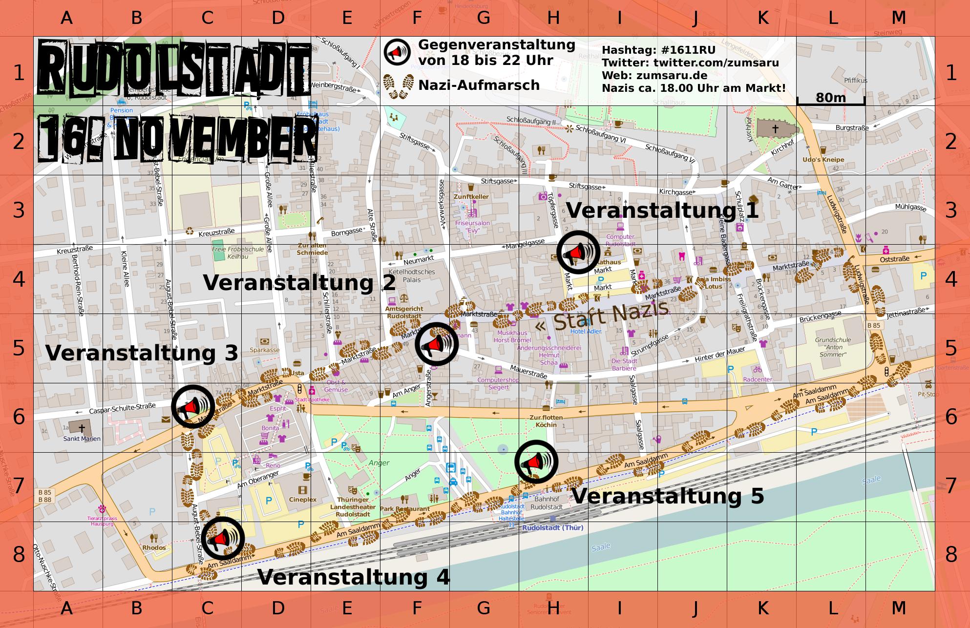 Naziaufmärschen am 16. November in Saalfeld und am 19. November in Saalfeld-Gorndorf entgegentreten!