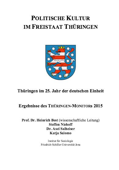 Thüringen Monitor 2015 als Download verfügbar
