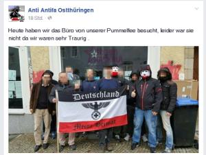 Anti-Antifa-Ostthüringen zum Posen vor dem Haskala
