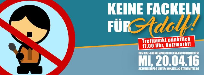 Fackelmarsch zum Hitler-Geburtstag in Jena und rechter Gewalt entgegentreten