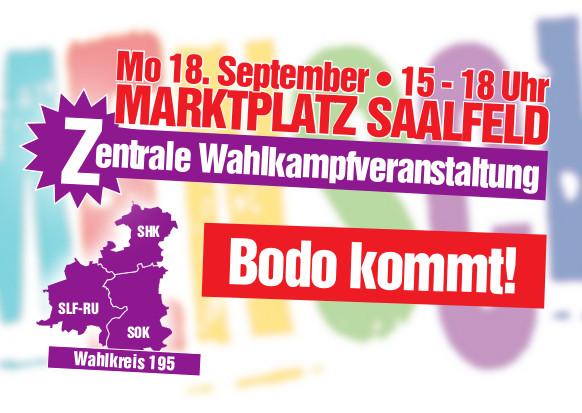 Bodo kommt! 18. September Marktpltz Saalfeld