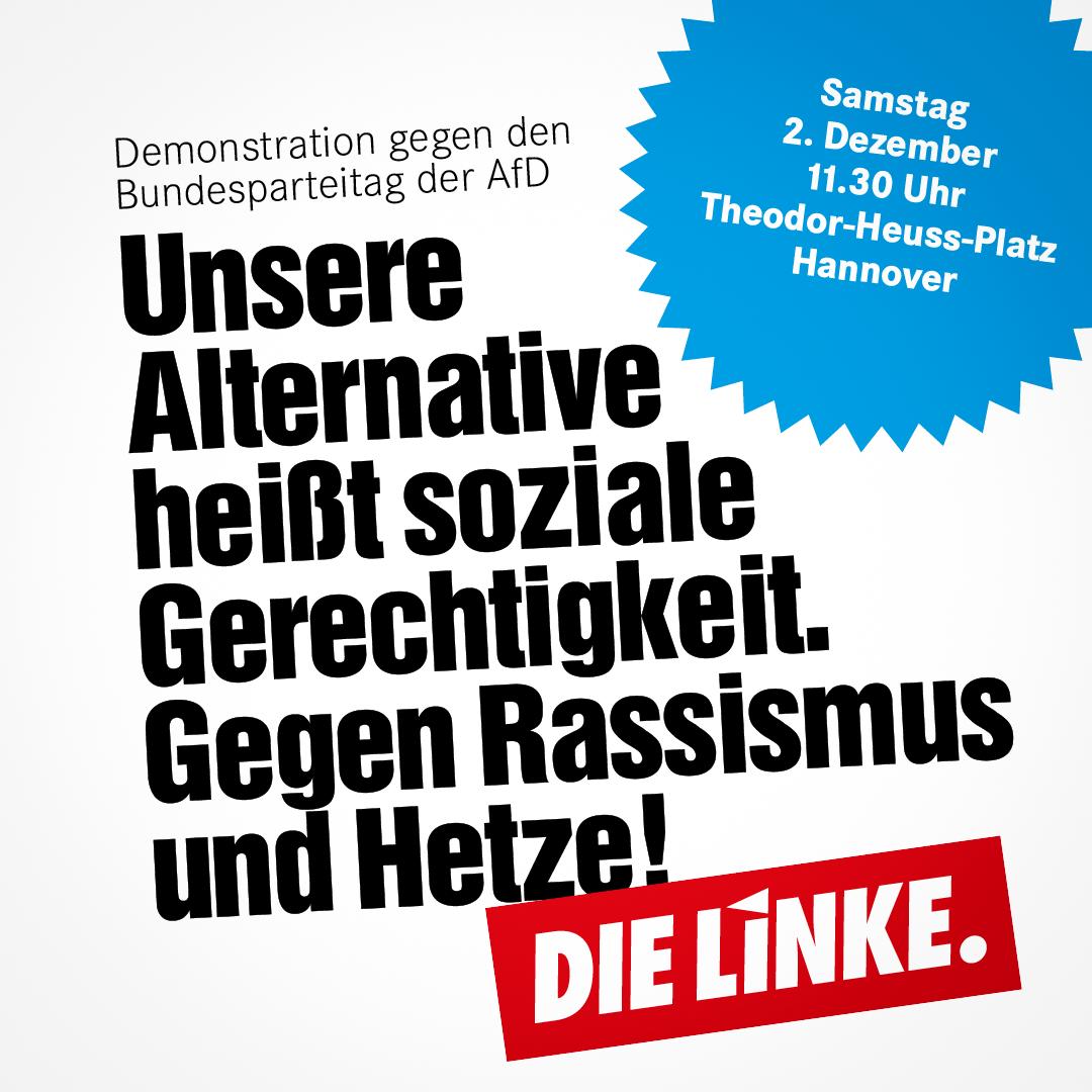Aufruf zu Demonstration gegen AfD-Bundesparteitag