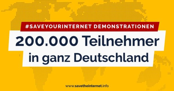 #SaveYourInternet- Demonstrationen in 45 Städten allein in Deutschland