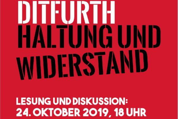 Haltung und Widerstand – Lesung und Diskussion mit Jutta DitfurthHaltung und Widerstand