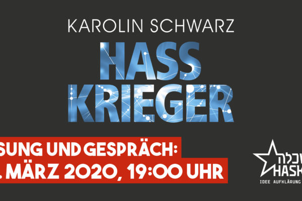 -ABGESAGT- Lesung und Gespräch mit Karolin Schwarz am 16.03.2020