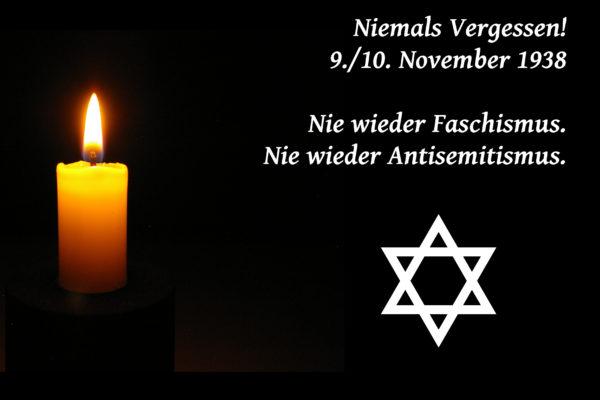 9. November – Bekämpfung des Antisemitismus weiterhin bedeutsam