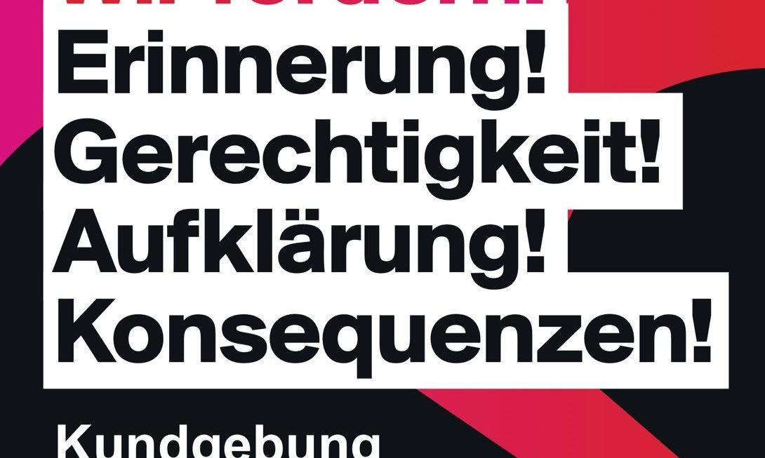 Gedenken an die aus rassistischen Motiven Ermordeten von Hanau