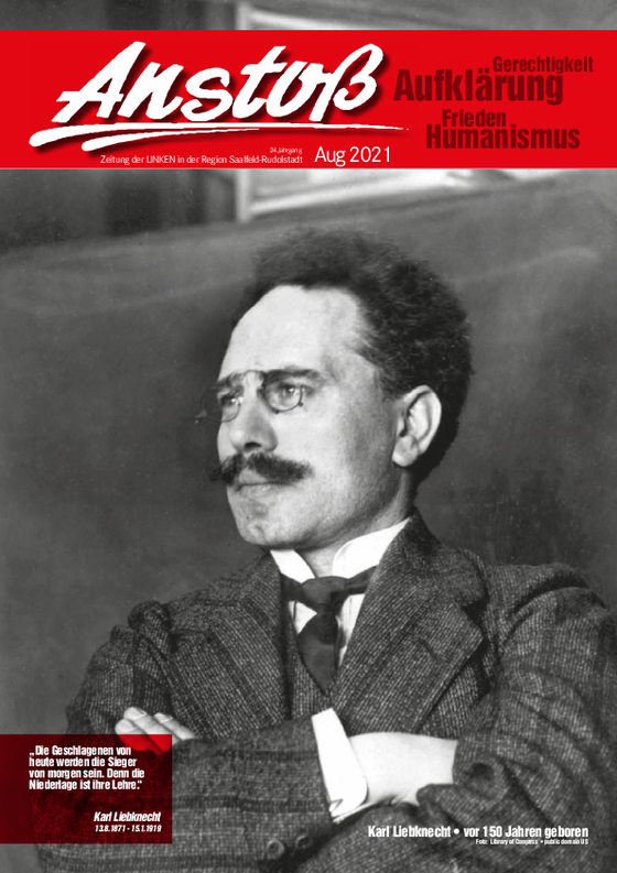Titelblatt des Anstoßes aus dem August 2021